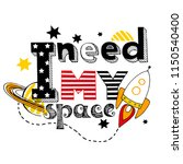 card with slogan i need my...   Shutterstock .eps vector #1150540400