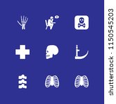 death icon. 9 death set with... | Shutterstock .eps vector #1150545203