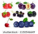 set of realistic fruits and... | Shutterstock .eps vector #1150546649