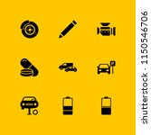 9 industry icons in vector set. ... | Shutterstock .eps vector #1150546706