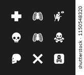 death icon. 9 death set with... | Shutterstock .eps vector #1150548320
