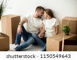 romantic millennial husband and ... | Shutterstock . vector #1150549643