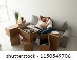 young loving spouses lying on...   Shutterstock . vector #1150549706