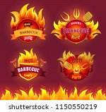 grill barbecue party hot... | Shutterstock .eps vector #1150550219