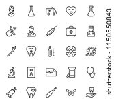 dental icon set. collection of... | Shutterstock .eps vector #1150550843