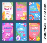 best offer sweet summer posters ... | Shutterstock .eps vector #1150551086