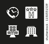 4 sleep icons in vector set.... | Shutterstock .eps vector #1150551539