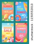 best offer summer posters set... | Shutterstock .eps vector #1150552013