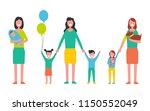 motherhood concept vector... | Shutterstock .eps vector #1150552049
