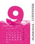 2019 calendar month september... | Shutterstock .eps vector #1150554506