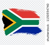 flag of south africa  brush...