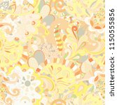 tracery seamless pattern.... | Shutterstock .eps vector #1150555856