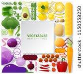flat lay fresh vegetables on... | Shutterstock .eps vector #1150558250