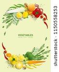 flat lay fresh vegetables on...   Shutterstock .eps vector #1150558253