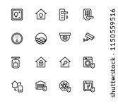 smart home. set outline icon... | Shutterstock .eps vector #1150559516