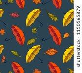 rainy autumn day. illustration... | Shutterstock .eps vector #1150565879