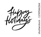handmade winter lettering happy ... | Shutterstock .eps vector #1150566266