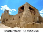 Small photo of San Esteban Del Rey Church and Convent in Acoma Sky City, New Mexico, USA