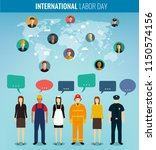 people of different occupations ... | Shutterstock .eps vector #1150574156