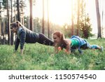 smiling sportswomen having...   Shutterstock . vector #1150574540