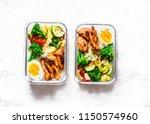 rice  stewed vegetables  egg ... | Shutterstock . vector #1150574960