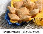 pastel  brazilian snack  | Shutterstock . vector #1150575926