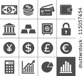 Finance Icons. Each icon is a single object (compound path). Simplus series | Shutterstock vector #115057654