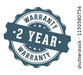 2 year warranty vector label... | Shutterstock .eps vector #1150580756