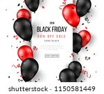 black friday sale poster with... | Shutterstock .eps vector #1150581449
