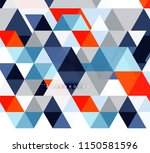 multicolored triangles abstract ... | Shutterstock .eps vector #1150581596