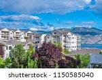 a perfect neighborhood. houses... | Shutterstock . vector #1150585040