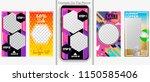 instagram stories template.... | Shutterstock .eps vector #1150585406