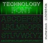 tech vector font typeface...   Shutterstock .eps vector #1150585436