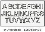 tech vector font typeface... | Shutterstock .eps vector #1150585439
