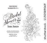 awesome vintage label. bridal... | Shutterstock .eps vector #1150589069