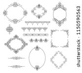 set collection of borders ... | Shutterstock .eps vector #1150590563