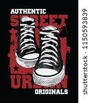 sneakers illustration for t... | Shutterstock .eps vector #1150593839