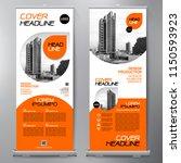 business roll up. standee...   Shutterstock .eps vector #1150593923