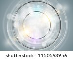abstract ring background. metal ... | Shutterstock .eps vector #1150593956