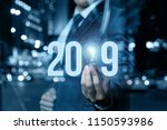 2019 ideas concepts with... | Shutterstock . vector #1150593986
