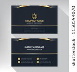 business model name card luxury ... | Shutterstock .eps vector #1150594070