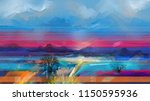 abstract oil painting landscape.... | Shutterstock . vector #1150595936