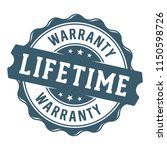 lifetime warranty vector label... | Shutterstock .eps vector #1150598726