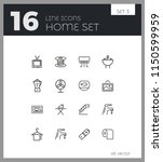 home icons. set of  line icons. ... | Shutterstock .eps vector #1150599959