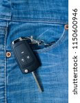 ignition key in side jeans... | Shutterstock . vector #1150600946