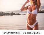 young beautiful sexy woman in... | Shutterstock . vector #1150601153
