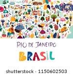rio de janeiro brazil vector... | Shutterstock .eps vector #1150602503
