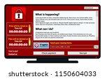 cryptolocker infection window... | Shutterstock . vector #1150604033