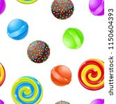candies and sweets. seamless... | Shutterstock .eps vector #1150604393