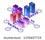 future 3d futuristic isometric... | Shutterstock .eps vector #1150607723